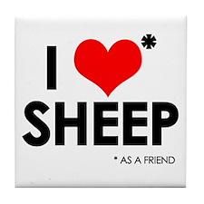 I Love* Sheep Tile Coaster