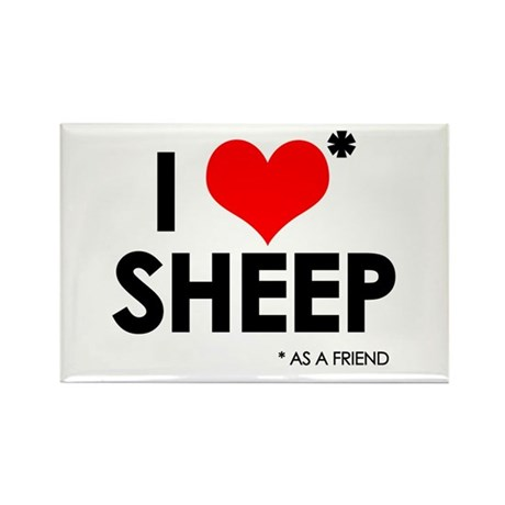 I Love* Sheep Rectangle Magnet (100 pack)