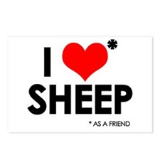 I Love* Sheep Postcards (Package of 8)