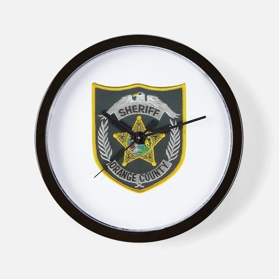 Orange County Sheriff Wall Clock