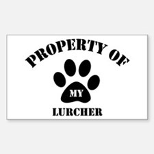 My Lurcher Rectangle Decal