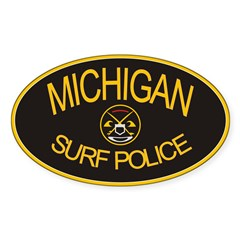 Michigan Surf Police Oval Decal