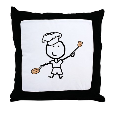 Boy & Chef Throw Pillow