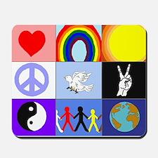 peaceloveunity Mousepad