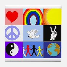 peaceloveunity Tile Coaster