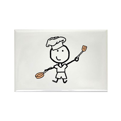 Boy & Chef Rectangle Magnet (10 pack)