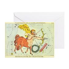 Vintage Celestial Zodiac, Sagittarius Greeting Car
