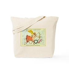 Vintage Celestial Zodiac, Sagittarius Tote Bag