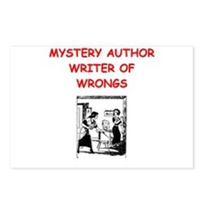 mystery writer author joke Postcards (Package of 8