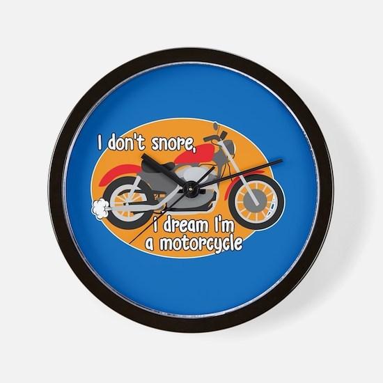 I Dream I'm A Motorcyle Wall Clock