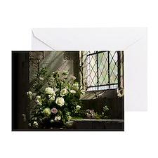 Church Flowers Single Greeting Card
