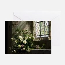 Church Flowers Single Greeting Card