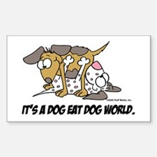 It's a Dog Est Dog World Rectangle Decal
