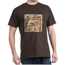 Cowboy 2 Cent Stamp Dark T-Shirt