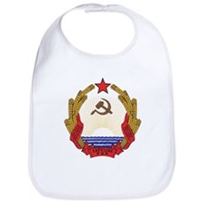 Latvian SSR Coat Of Arms Bib