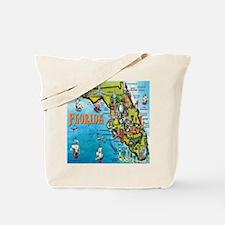 Unique Cartoon map of orlando florida Tote Bag