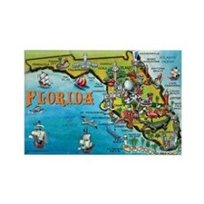 FloridaMap 11x17 Magnets