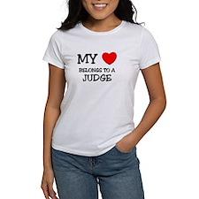 My Heart Belongs To A JUDGE Tee