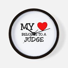 My Heart Belongs To A JUDGE Wall Clock