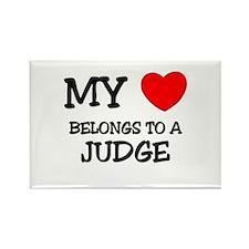 My Heart Belongs To A JUDGE Rectangle Magnet