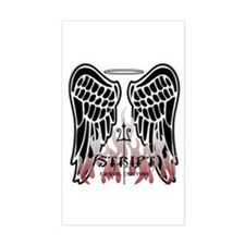 Black Angel Wings Rectangle Decal