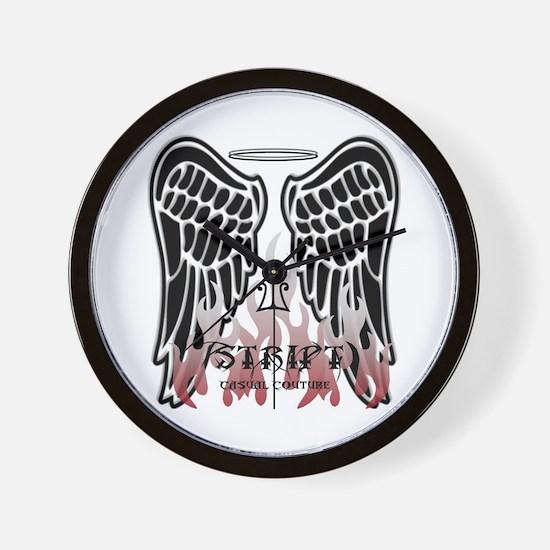 Black Angel Wings Wall Clock