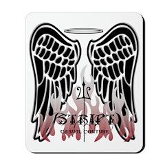 Black Angel Wings Mousepad