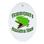 Gator Farm Oval Ornament