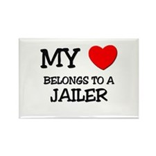 My Heart Belongs To A JAILER Rectangle Magnet