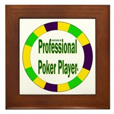 Poker Player Framed Tile