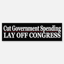 Lay Off Congress - Bumper Bumper Bumper Sticker