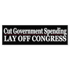 Lay Off Congress - Bumper Car Sticker