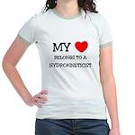 My Heart Belongs To A HYDROKINETICIST Jr. Ringer T