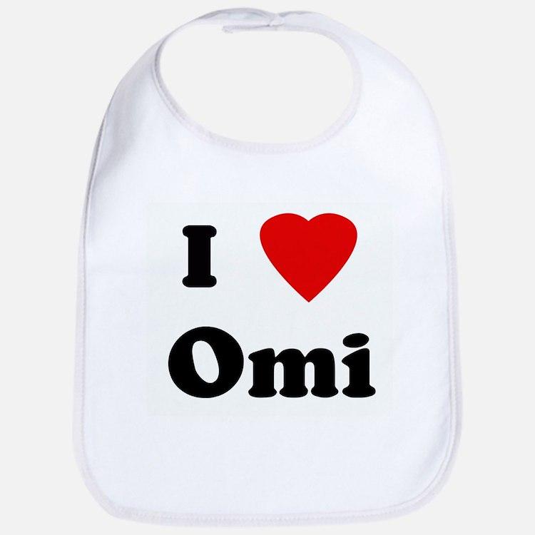 I Love Omi Bib