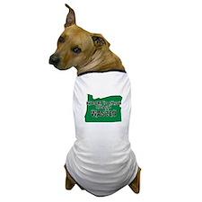 OREGON SHIRT LETS GET WASTED Dog T-Shirt