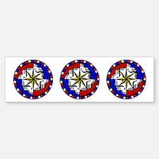 """Grateful Dead Compass Sticker (3 - 3""""x3"""""""