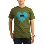 Rainy Forks, WA Organic Men's T-Shirt (dark)