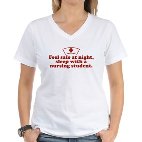 Funny Nursing Student Women's V-Neck T-Shirt