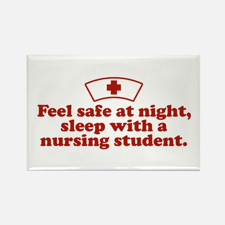 Funny Nursing Student Rectangle Magnet