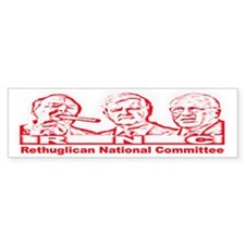 RNC Rethuglicans Bumper Bumper Sticker