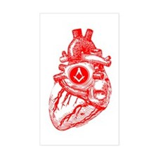 Freemason's Heart - Rectangle Decal