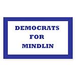 Democrats For Mindlin Rectangle Sticker 50 pk)
