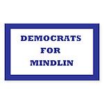 Democrats For Mindlin Rectangle Sticker 10 pk)
