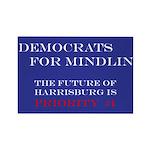 Democrats For Mindlin Rectangle Magnet (100 pack)