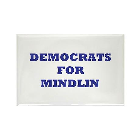Democrats For Mindlin Rectangle Magnet (10 pack)