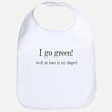 """I go green...diaper"" Bib"