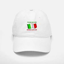 Italians and Wine Improve With Age Baseball Baseball Cap