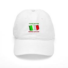 Italians and Wine Improve With Age Baseball Cap