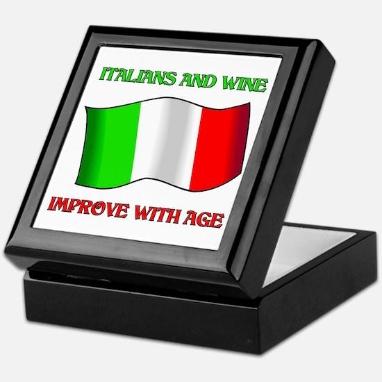 Italians and Wine Improve With Age Keepsake Box