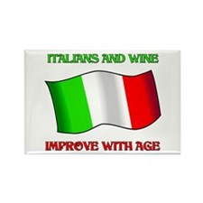 Italians and Wine Improve With Age Rectangle Magne